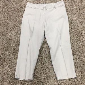 Light khaki curvy crop ankle pants